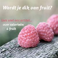 hoeveel fruit per dag afvallen