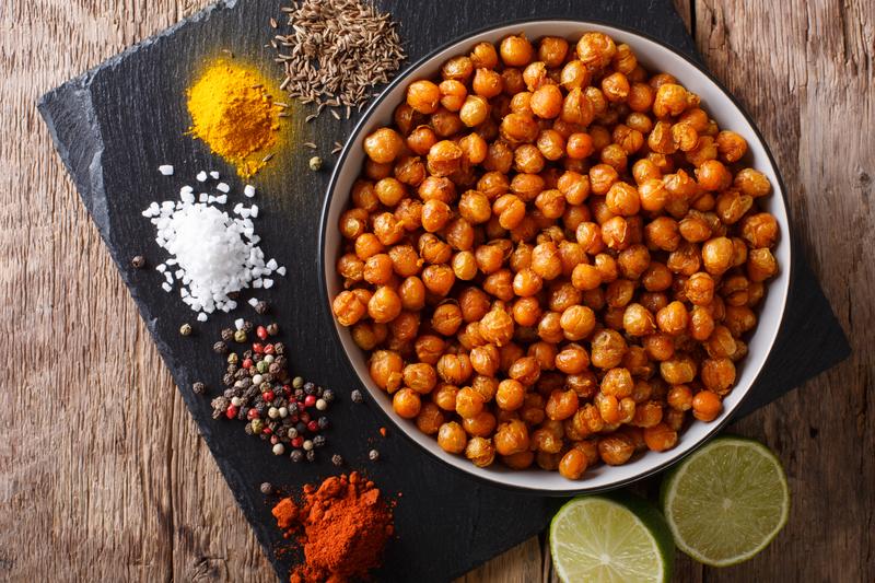 gezonde snack geroosterde kikkererwten recept